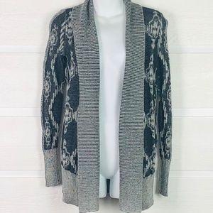 ECOTE for UO Black & White Cotton Blend Cardigan